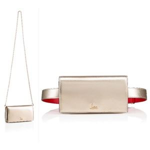 Christian Louboutin Boudouir Chain Gold Belt Bag